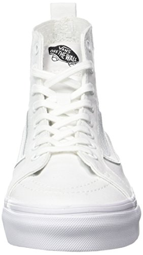 Vans Womens Sk8-Hi (Checker Gore) True White Skateboarding Shoes (5 Women/3.5 Men M US) LjC3XPbhn