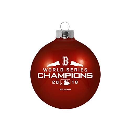 Boston Red Sox 2018 World Series Champions Small Glass Ball Ornament