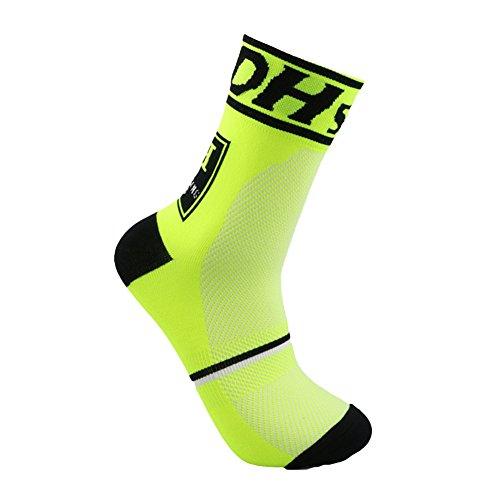QIAONAI サイクリング?ソックス  自転車用靴下  サイクル ソックス 靴下 ランニング、登山、ゴルフ、アウトドア、運動用 フリーサイズ 6色