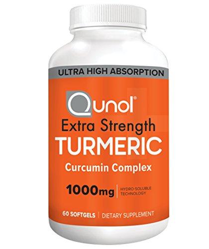 Turmeric Curcumin Softgels, Qunol with Ultra High Absorption 1000mg, Anti-Inflammatory, Dietary Supplement, Extra Strength, 60 (Extra Strength Softgels)