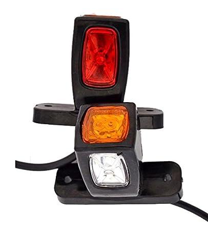 2 x stelo 24 V Side contorno bordo fine Marker luci LED camion rimorchio telaio ribaltabile rosso//bianco//arancione