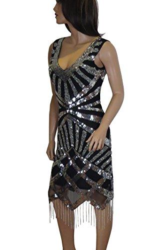 50 Kleid Damen 42 44 Lush 36 40 48 schwarz schwarz Bird 38 46 34 BxOOUw4