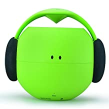 Motis Wireless Bluetooth Outdoor Speaker Audio Player Music Speaker Subwoofer Waterproof Dustproof Function NFC Connection Static-free(Green)