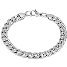 Oxford Ivy Men's Stainless Steel Chain Link Bracelet 8 1/2 inch