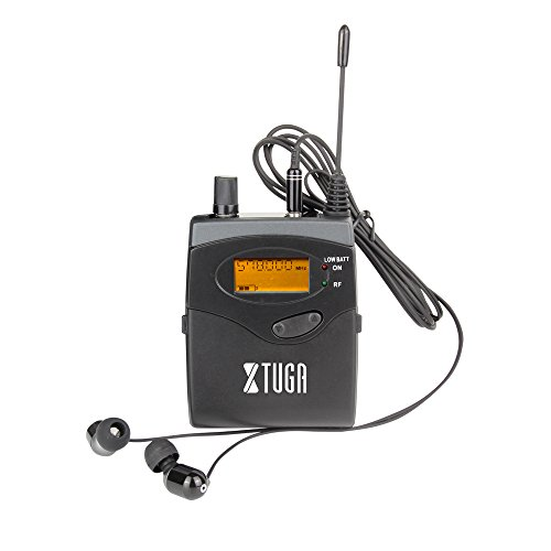 Top Quality!! Xtuga RW2080 In Ear Monitor System 2 Channel 2/4/6/8/10 Bodypack Monitoring with in earphone wireless SR2050 Type! (Only one bodypack) by Xtuga