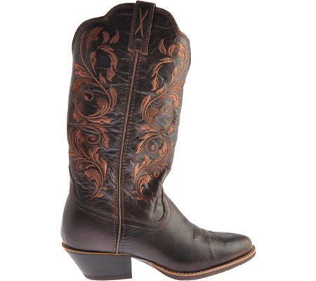 Cowgirl Toe US X Round Chocolate Chocolate Twisted Boot Women's Western Embroidered vB8wqZxxXp