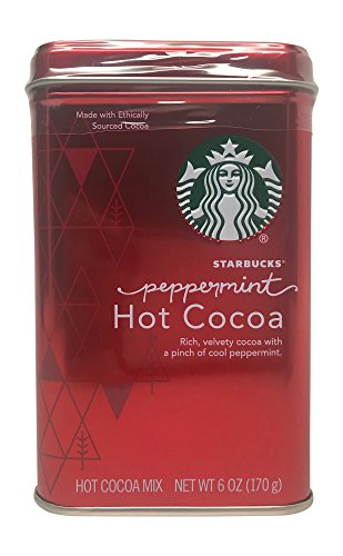 Starbucks Classic Peppermint Hot Cocoa Mix Red Tin 6 Oz ()