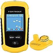 LUCKYLAKER Portable Kayak Fish Finder Sonar Wireless Transducer Depth Finder Water Handheld Sensor Fish Finder