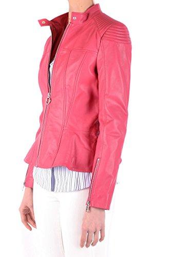 Rojo Cazadora Cuero Pinko INCURVARER51 Mujer nwqSA8YB