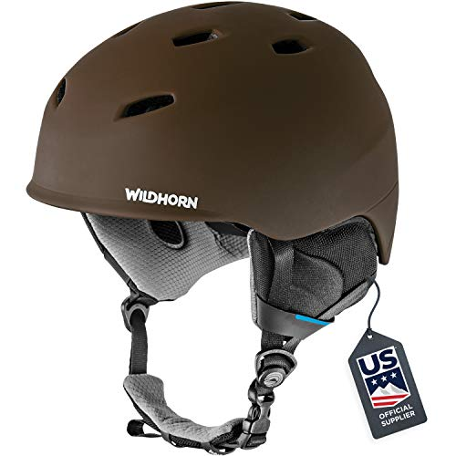 WildHorn Outfitters Ski Helmet, Drift Snowboard, USA Ski Team, Official Supplier, Performance and Safety Active Ventilation