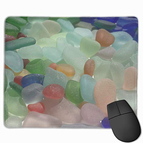 Mouse Pad (9.8x11.8x0.12in) Clean Sea Glass Ergonomic Mice Pad with Non-Slip Rubber Base for Computers/Laptop/Office & Home