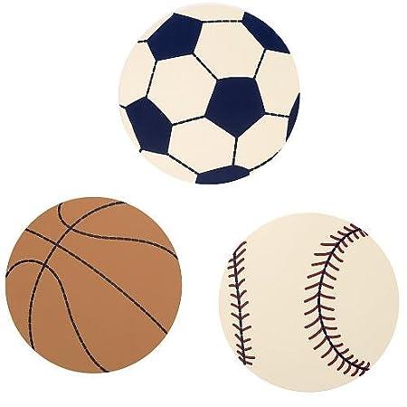 NoJo My Little MVP 2 Piece Wooden Wall Art Soccer/Football, Tan, Brown, Navy Crown Crafts Inc 6588973