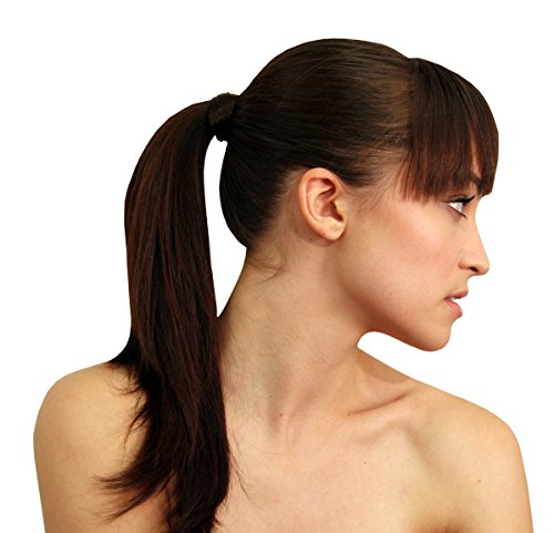 [The Tonytail Ponytail Wrap Dark Brown] (Hollywood Fancy Dress)