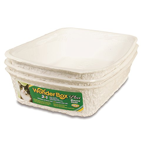 Disposable Cat (Kitty's Wonderbox Disposable Litter Box, Medium, 3-Count)