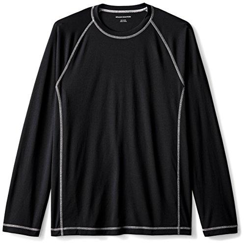 Amazon Essentials Mens Long-Sleeve Quick-Dry UPF 50 Swim Tee, Black, XX-Large