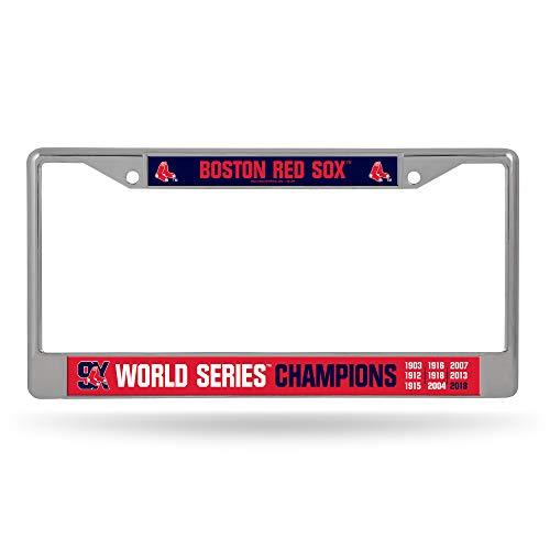 (Rico Tag Express MLB Boston Red Sox 9X World Series Chrome Metal License Plate Frame 6