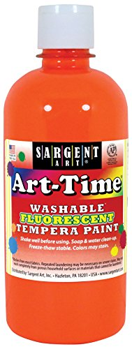 - Sargent Art 17-4714 Art-Time 16oz Orange Washable Fluorescent Tempera Paint