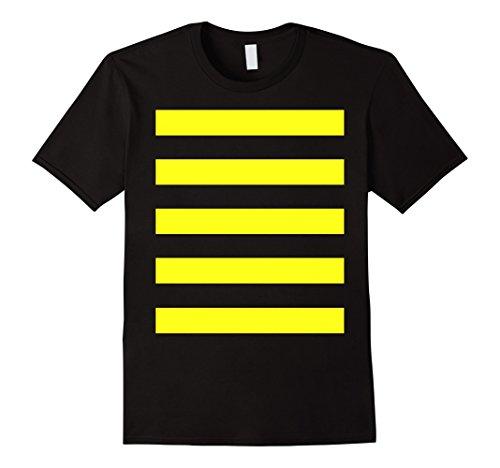 Male Bee Costume - Mens Bee Costume Shirt - Cute Halloween Costume Honeybee Honey Large Black