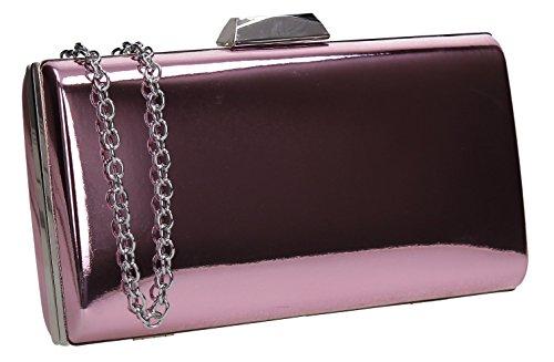 Faux Wedding Finley Clutch Pink Bag Womens Leather Swankyswans Box Patent 5q1dBYBx