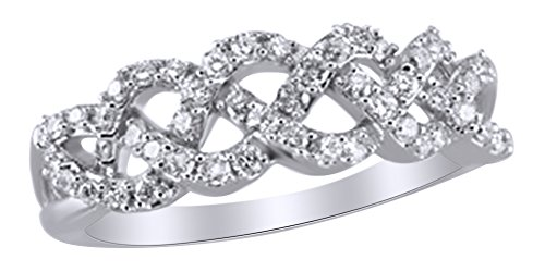 Diamond Braided Ring - 2
