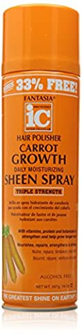 Fantasia Hair Polisher Carrot Growth Sheen Spray, 14.0