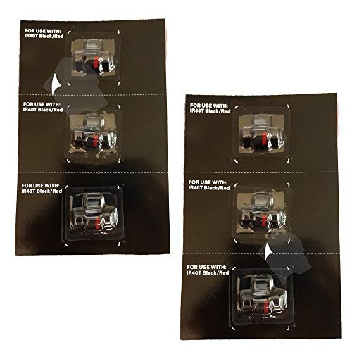 6pack Gorilla Supply IR40T Ink Ribbons Replacement for Canon P170DH P170-DH P1-DHV-G Black Red