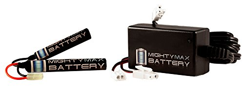 8.4V 1600mAh Butterfly Battery for CYMA M14 EBR Rifle + 8V Charger - Mighty Max Battery brand product by Mighty Max Battery