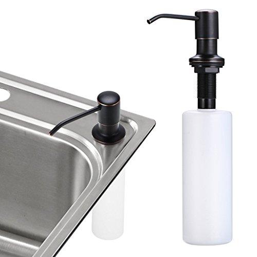 Counter Mount (Sink Soap Dispenser, Sumnacon Stainless Steel Liquid Dish Dispenser, Stylish and Sturdy Lotion Shampoo Countertop Mount Kitchen Dispenser Pump, Oil Rubbed Bronze, 17 OZ Bottle, 3.15