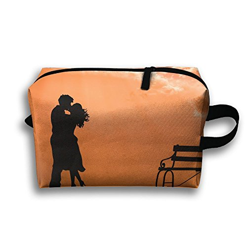 Pengyong Couple Is Kissing Small Travel Toiletry Bag Super Light Toiletry Organizer For Overnight Trip Bag by Pengyong
