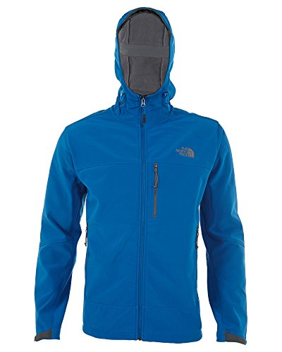 The North Face Mens Apex Bionic Hooded Snorkelblue / Snorkel Blue, (North Face Windwall 2 Jacket)