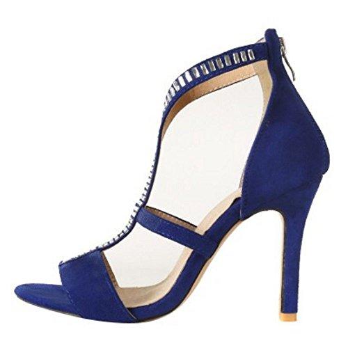 blue Sandales Femmes TAOFFEN blue Sandales TAOFFEN Femmes TAOFFEN Femmes Aiguille Aiguille FTvpW4v