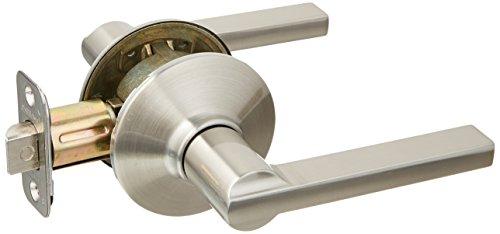 Schlage F10VLAT619 Latitude Style Passage Lever, Satin Nickel - Non Locking Door Knob
