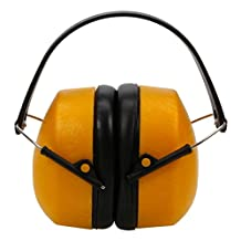 Adjustable Soundproofing Ear Muff Noise Hearing Protector Orange 89006313