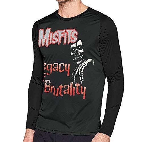 sport outdoor 003 Mens Cool Misfits- Legacy of Brutality Long Sleeve Raglan Baseball T-Shirt -