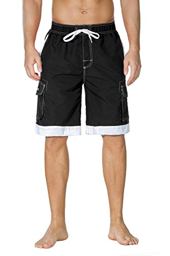 Nonwe Men's Surf Quick Dry Swim Trunks with Drawsting