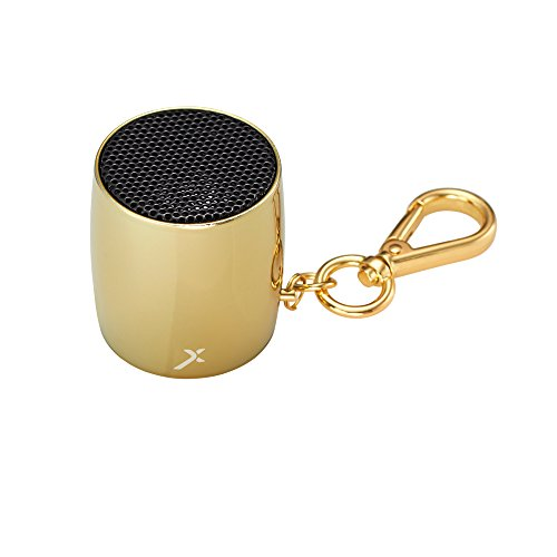 MixBin Ultra Portable Mini Drum Bluetooth Speaker With Keychain & Selfie Camera Feature (Gold