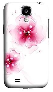 Samsung S4 Case Elegant pink flowers 3D Custom Samsung S4 Case Cover