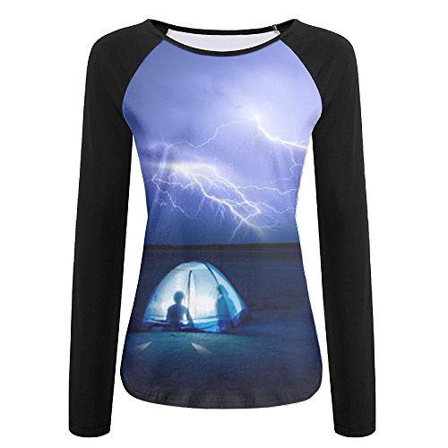 (JIAU HUA Camp Lightning Ladies Quickdry Outdoor Raglan Jersey Shirts)