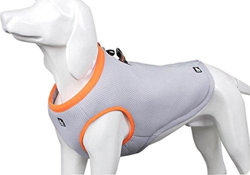 SGODA Dog Cooling Vest Harness Cooler Jacket Grey Orange (Small Dog Vest)