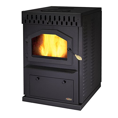 MagnuM Countryside in Matte Black Wood Pellet Stove 32,000 BTU Hand-Built in USA by Magnum