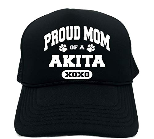 (Signature Depot Funny Trucker Hat (Proud Mom of a Akita (Dog) Unisex Adult Foam Cap )