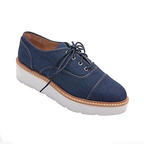 Linea Paolo Mavis | Womens Wedted Tessile Oxford (new Spring) Navy Toile