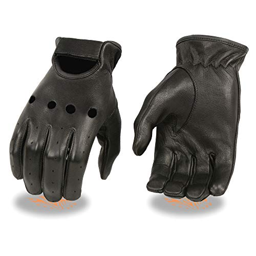 Shaf International Men's Deerskin Driving Gloves (Black, - Deerskin Gloves Driving