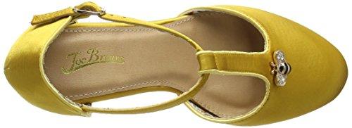 Joe Browns Damen Sweet As Honey Vintage Shoes T-Spangen Pumps Yellow (Gold)