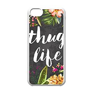 Thug Life Iphone 5C Cell Phone Case White 218y-074723