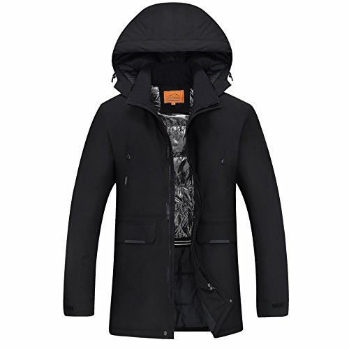 Size Thickened Pocket Color Black Large JACKETS Jacket FYM DYF Coat Down Zipper Solid Hat xwqpTnRFz