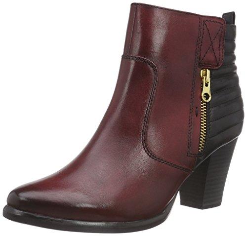 Tamaris 25331 - botas de material sintético mujer multicolor - Mehrfarbig (Scarlet/Black 551)