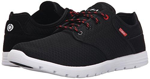 C1RCA Men's Atlas Skate Shoe, Black/White, 9 M US