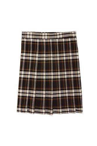 ls' Plaid Pleated Skirt, Brown, 10 (Brown Plaid Skirt)