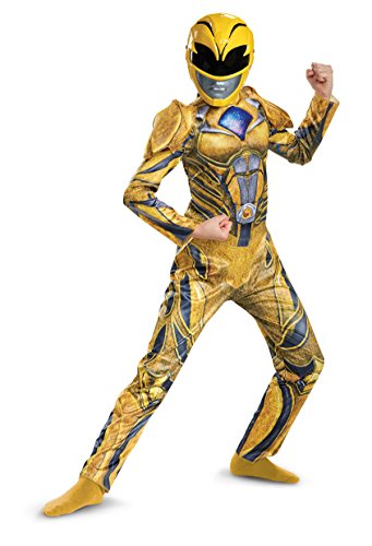Power Ranger Movie Deluxe Costume, Yellow, Large (10-12)